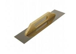 Нержавеющая гладилка Швейцарская с деревянной ручкой 380x130 мм