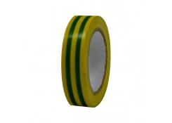 Изолента ПВХ 15*20 желтый-зеленый цвет TDM