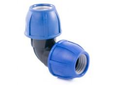Отвод компрессионный PN16 d 20 для ПЭ труб