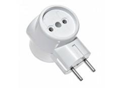 Тройник электрический 3Т  белый