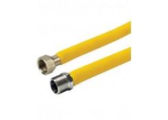 Шланг газовый НВ 1/2' . в желтой оболочке. 120см.