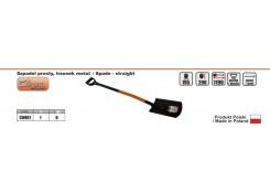 Лопата простая, ручка металл 195 мм