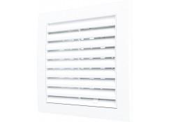 Решетка вентиляционная регулируемая 150x150 с фланцем D100 Эра 1515РРП10Ф
