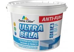 КРАСКА белоснежная акриловая эмульсия потолок и стена ULTRA BELA 4кг GAMA-COLOR