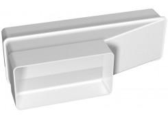 Соединитель эксцентриковый плоского воздуховода с плоским 60х120/60х204 612РП20П Эра