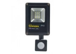 10W GLANZEN светодиодный прожектор с датчиком