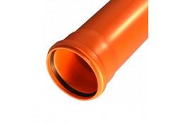 Труба канализационная наружная  Ø160х1000мм SN4