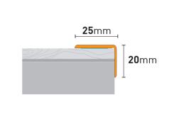 Лестничный профиль 1,2м алюм  Дуб Давос