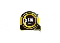 Рулетка в двухкомпонентном корпусе, желтая 3м