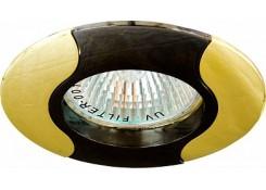 Светильник встраиваемый Feron 020T-MR16 потолочный MR16 G5.3 черно-золотистый