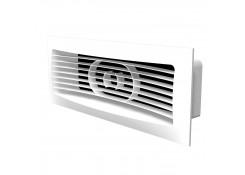 Решетка вентиляционная 150x90 с фланцем 120x60 Эра 612РСФ