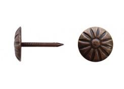 Гвоздь декоративный - цветок, покрытие состаренная бронза 1,3х11/16,5