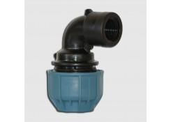 Уголок для труб из ПНД 90° 20X1/2″ ВР PN10